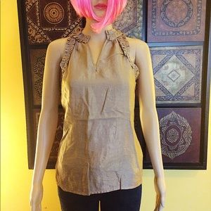 The Limited Tops - 💖NWOT💖Sleeveless Metallic-Taupe blouse 💖XS